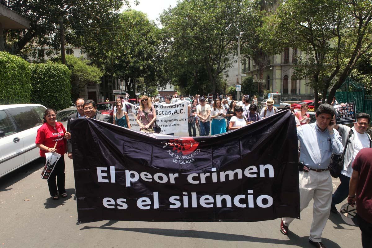 Exigen esclarecer asesinatos de periodistas en Veracruz. Foto: Benjamin Flores