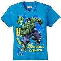 Avengers Boys' T-Shirt (AV0DBT788_Malibo Blue_7-8 years)