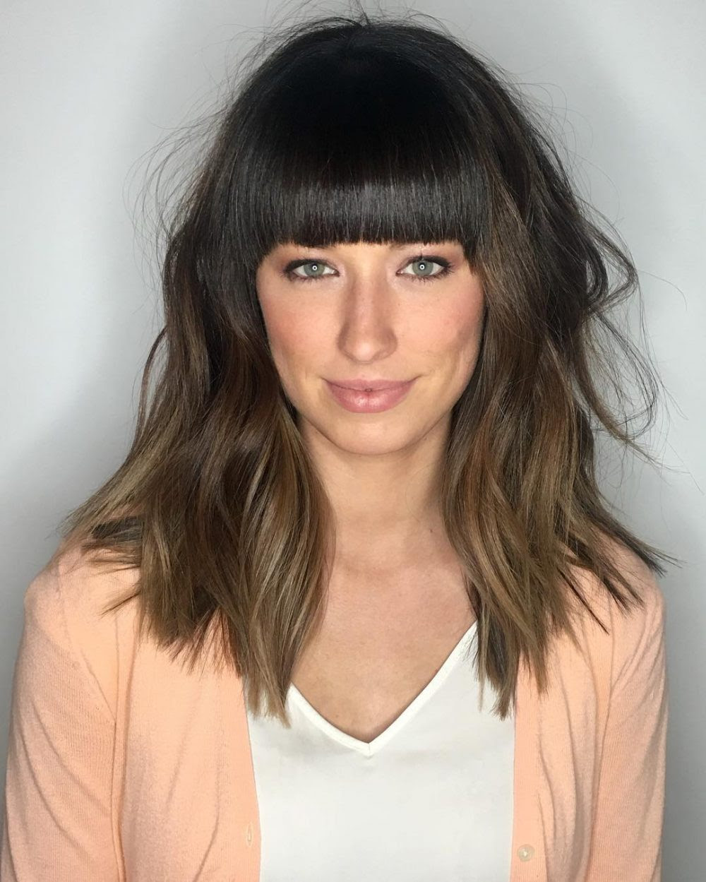 36 Popular Medium Length Hairstyles With Bangs (Updated for 2018)