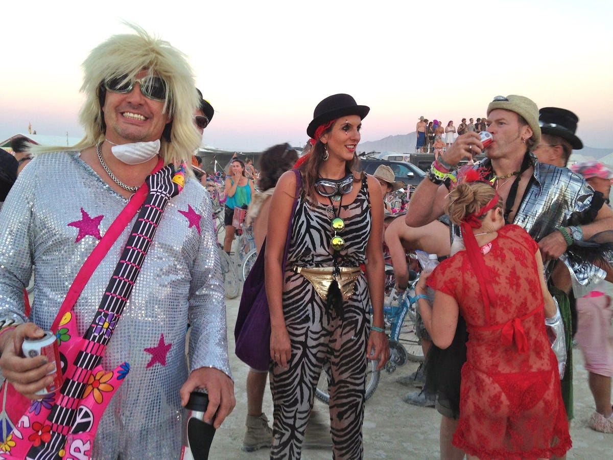 burning man crazy costume photos  business insider