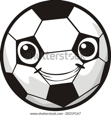 soccer ball. vector : happy soccer ball