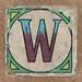 Vintage brick letter W
