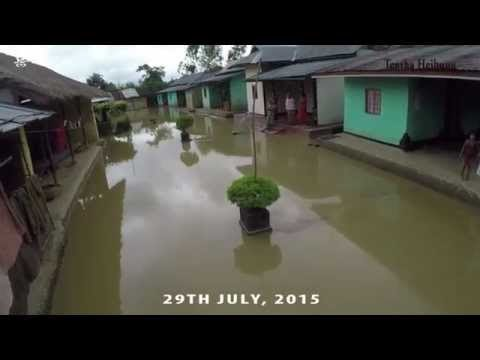 Worst flood ever in Chandel, Manipur, India