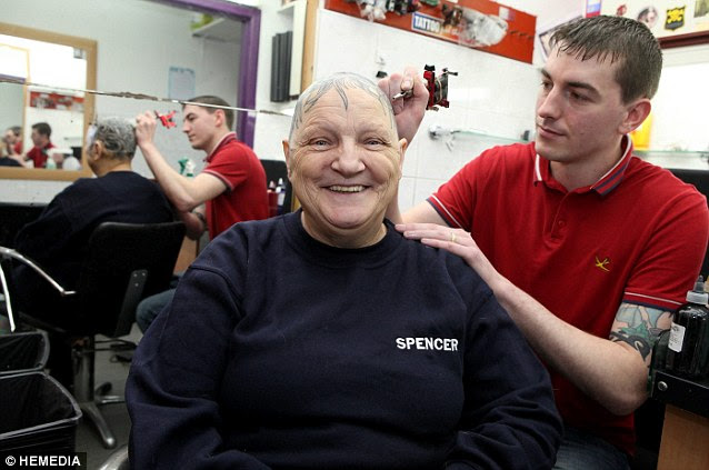 Having been turned away from other tattoo parlous Ann went to Pete's Tattoo Studio in Dalkeith, where owner Pete Gillespie and his son Kevan agreed to do the piece