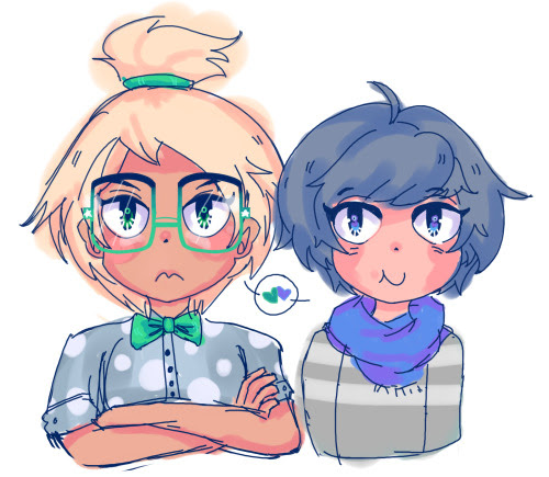 first au human lapidot thing  literally practicing eyes and these two came up, plus i wanted to draw modern clothes