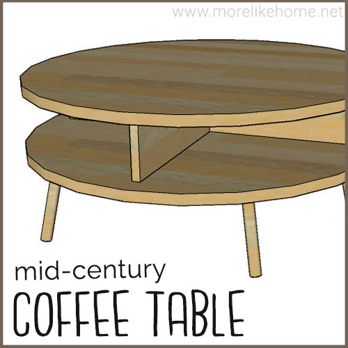 diy coffee table building plans free mid century modern round easy