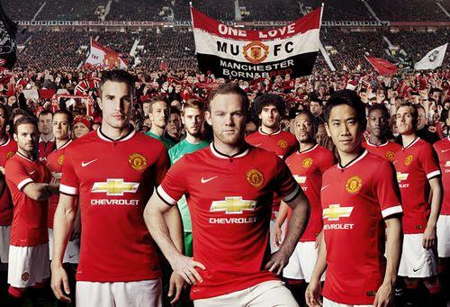 nouveau maillot de foot Manchester United pour la saison 2014 2015