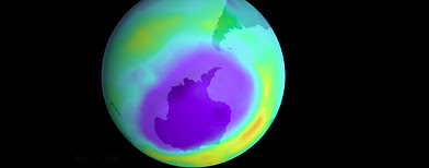 Earth's protective ozone layer and hole. (Photo by Newsmakers)