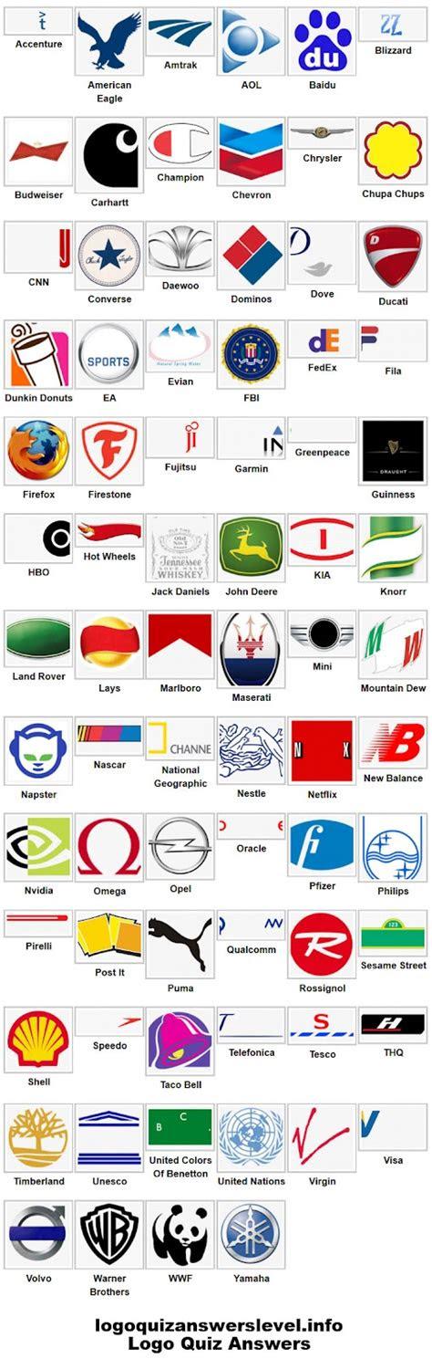 logo designs logo quiz answers level
