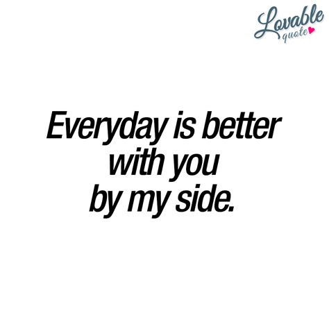 With You By My Side Love Quotes