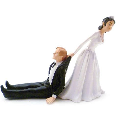 Reluctant Groom Wedding Cake Topper   Find Me A Gift
