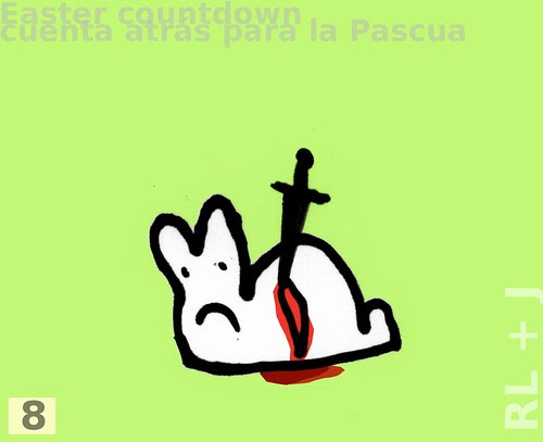 countdown cuenta atrás Pascua conejito easter rabbit
