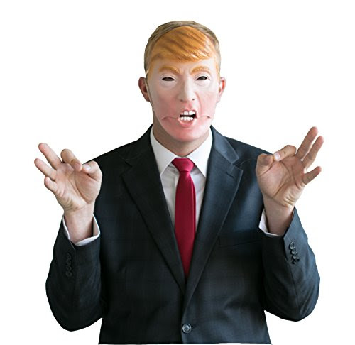 Trump and Clinton Halloween Costumes - Choose Edgy or Funny - Donald Trump Mask - Mouth Moves when you talk - Funny Mask