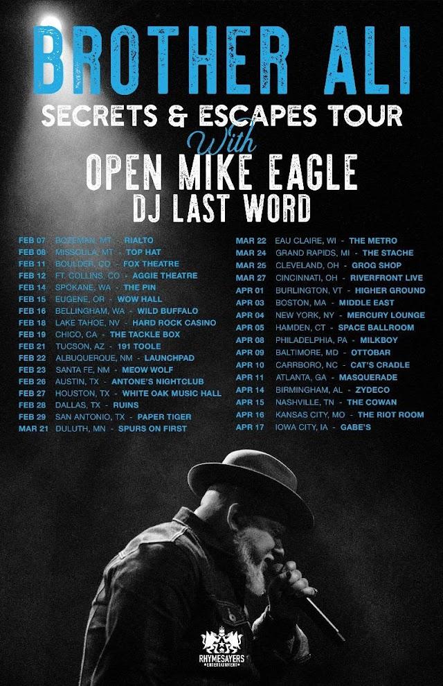 """Brother Ali Announces """"Secrets & Escapes Tour"""" Dates"""
