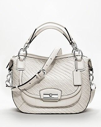 Coach Kristin Woven Leather Satchel