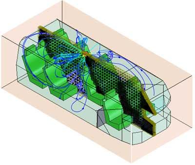 CAD/FEM/CAE модель салона микроавтобуса