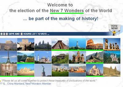 Fotorgrafía (photo) de los 21 monumentos pre-seleccionados en new7wonders siete maravillas del mundo