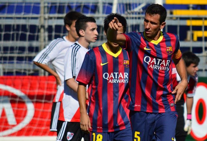 Barcelona River Plate desafio internacional futebol 7 (Foto: Davi Pereira/Jornal F7.com)