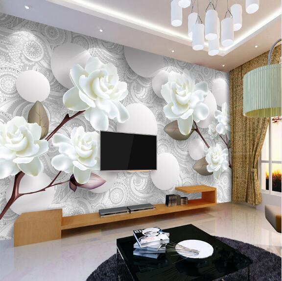 Custom 3d Stereoscopic Mural Wallpaper European Fashion Beautiful