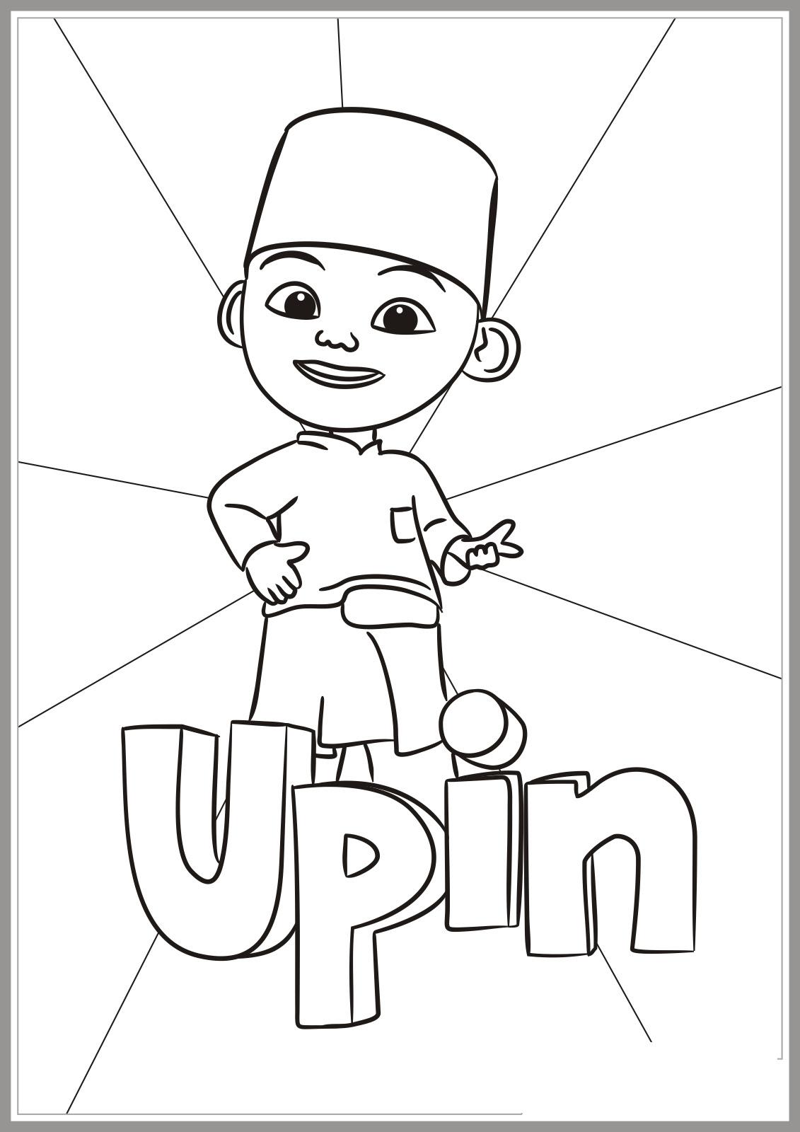 Gambar Mewarnai Upin Ipin Anak Paud Tk Aneka Di Sketch Coloring Page
