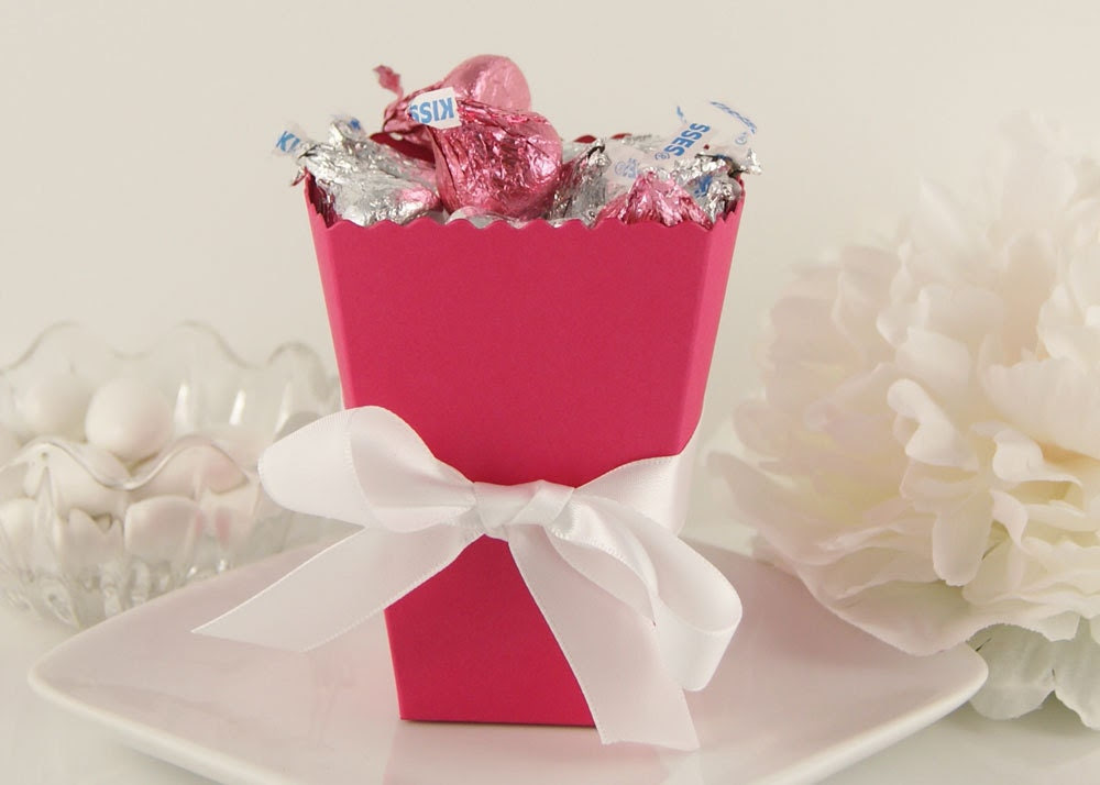 Popcorn inspired Wedding Favor Box DIY Wedding Favor Boxes in 50 colors to