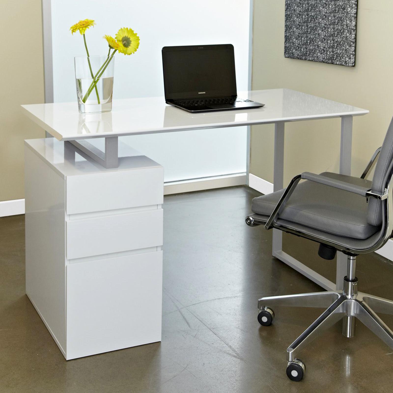 Tribeca Study Desk with Drawers - Desks at Hayneedle