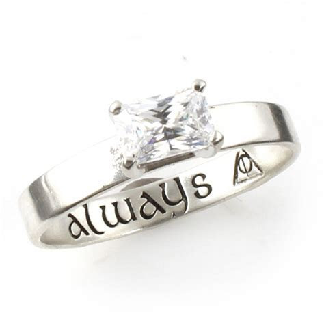"Harry Potter ""Always"" Deathly Hallows Engagement Ring"