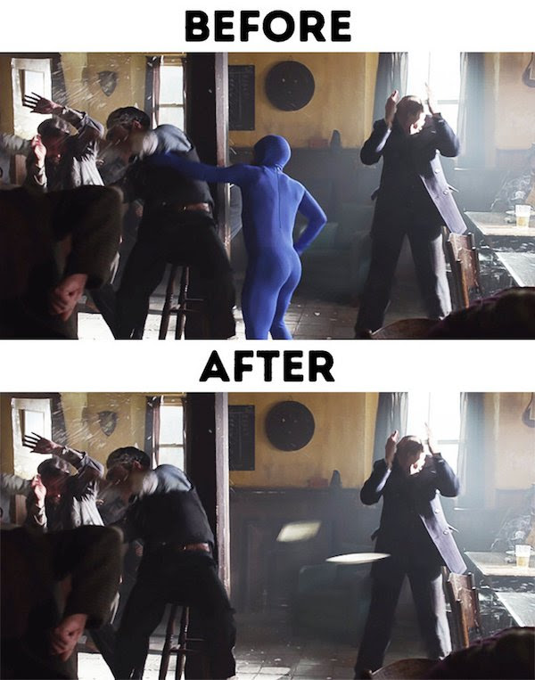 1 - 30 before and after special effects scenes