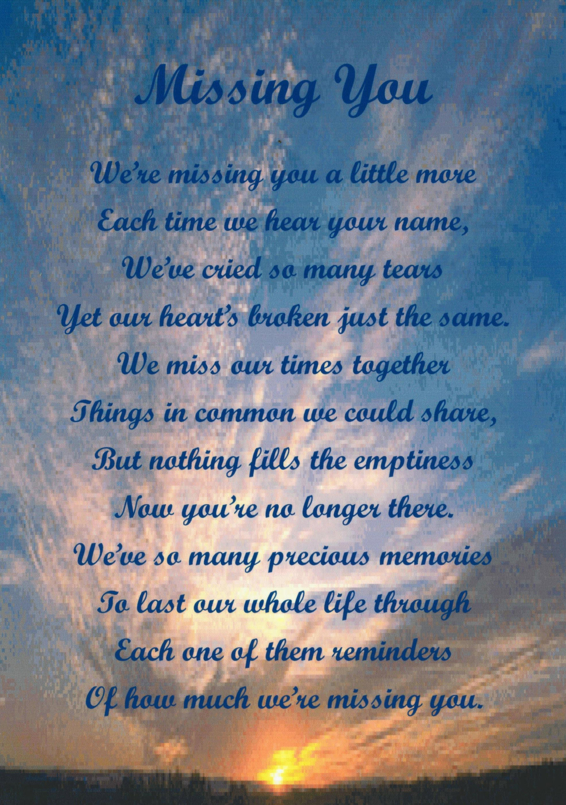 Missing Dead Son Quotes Wwwtopsimagescom