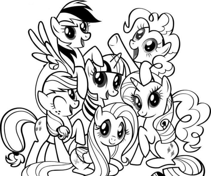 my pony kleurplaat