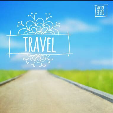 Travel brochure background free vector download (52,025