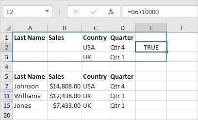 Formula as Criteria Result
