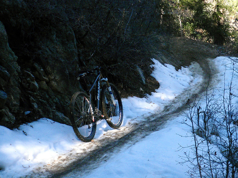 Snowy single-track