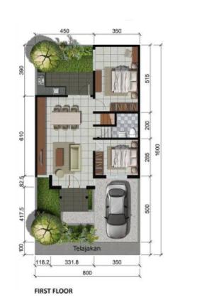 15 Rumah Minimalis 1 Lantai 3 Kamar Tidur Dan Garasi Terbaru