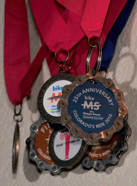 My MS-150 Medal Collection