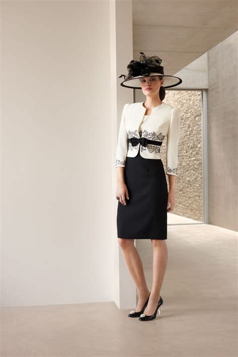 Condici Cream and Black dress and jacket (style 70754) and