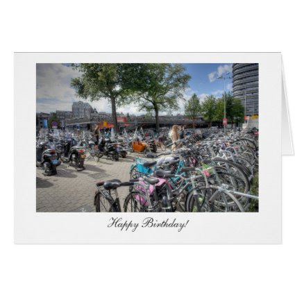 Central Station Bicycles - Happy Birthday Greeting Card