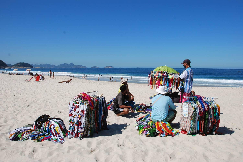 Pause sur la plage de Copacabana