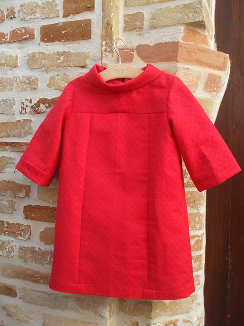 red pique dress