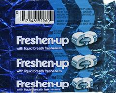 Peppermint Freshen-up gum wrapper