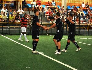 Flamengo x Botafogo, semifinal do Torneio Rio-São Paulo de showbol. (Foto: Max Santos / Divulgação )