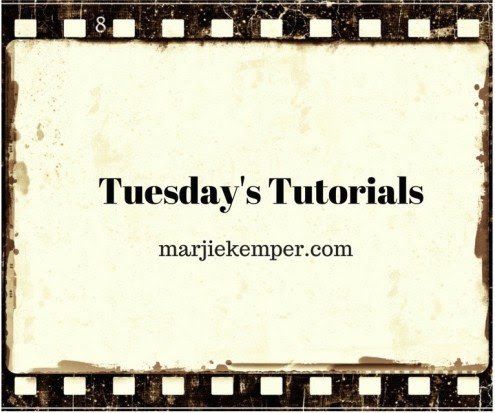 Tuesday's Tutorials Weekly Mixed Media Blog Series (Marjie Kemper)