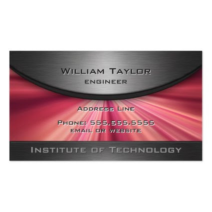 Magenta Metallic Elegance with QR code Business Card Templates