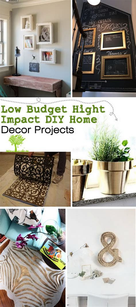 budget hight impact diy home decor projects noted list