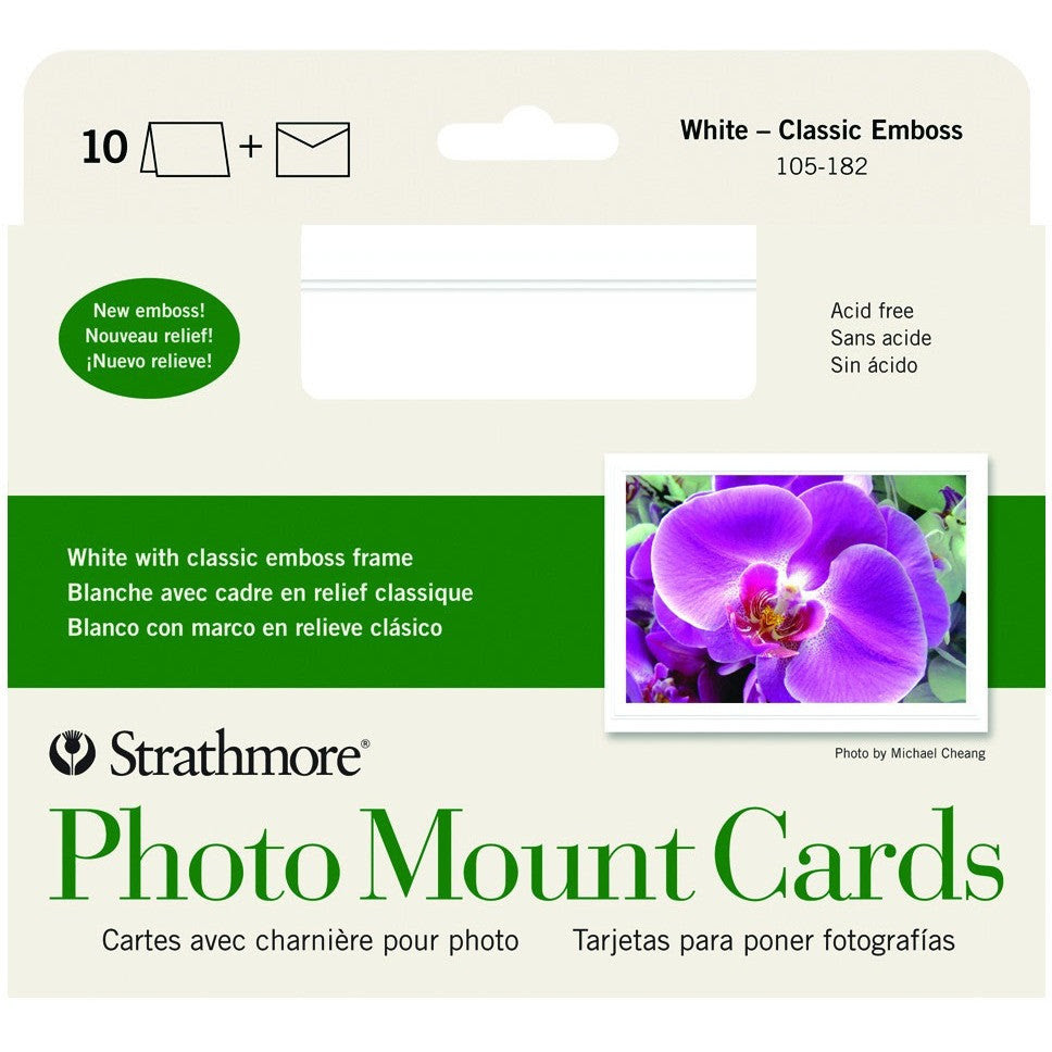 Strathmore Photo Mount Cards Classic Emboss Wallacks