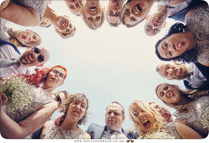 Fun photo of ushers and bridesmaids - www.helloromance.co.uk