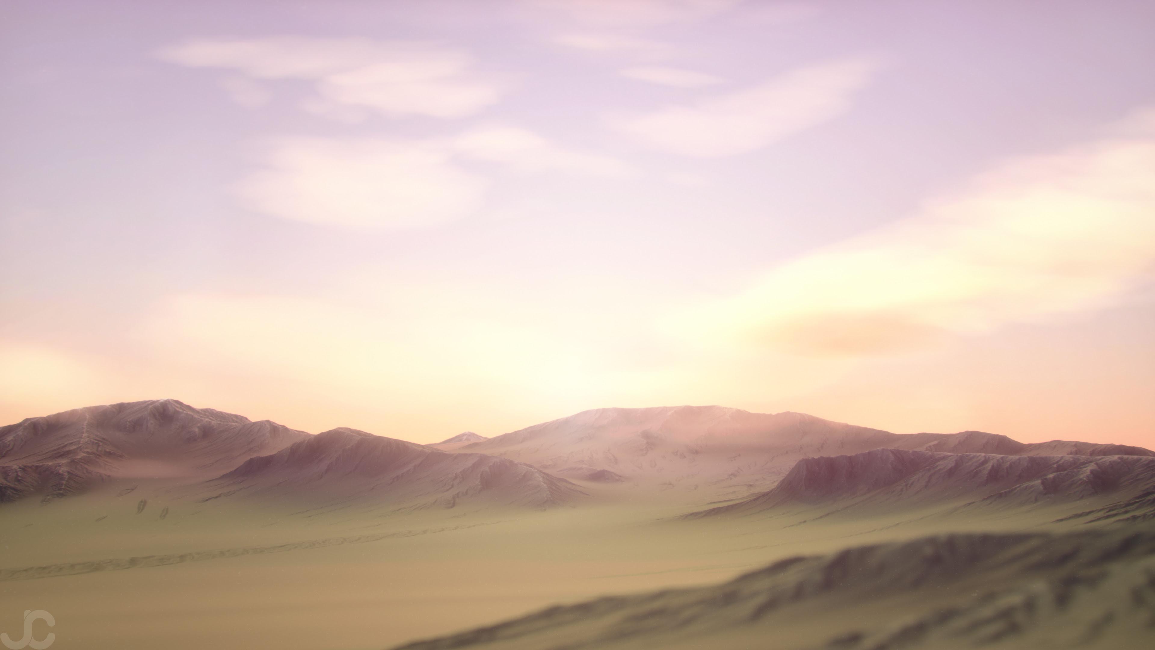 Pastel Dreams - a 3d landscape I made [3840x2160]