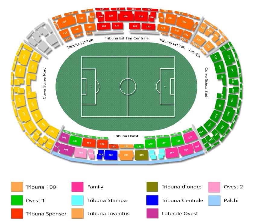 Cartina Roma Stadio Olimpico.Mappa Juventus Stadium