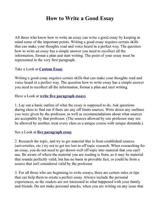 how do you write an essay introduction