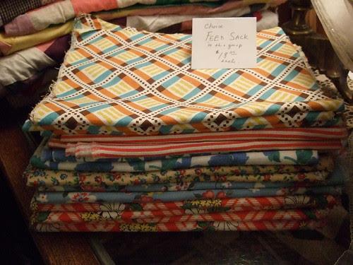 Rebecca Haar's antique feed sacks